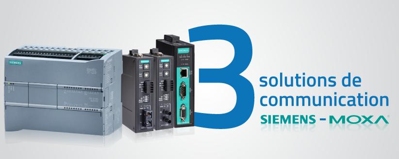 3 solutions MOXA qui s'intègrent avec le PLC Siemens