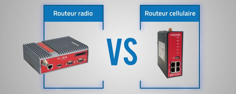 Routeur cellulaire Vs routeur radio : quelle différence ?